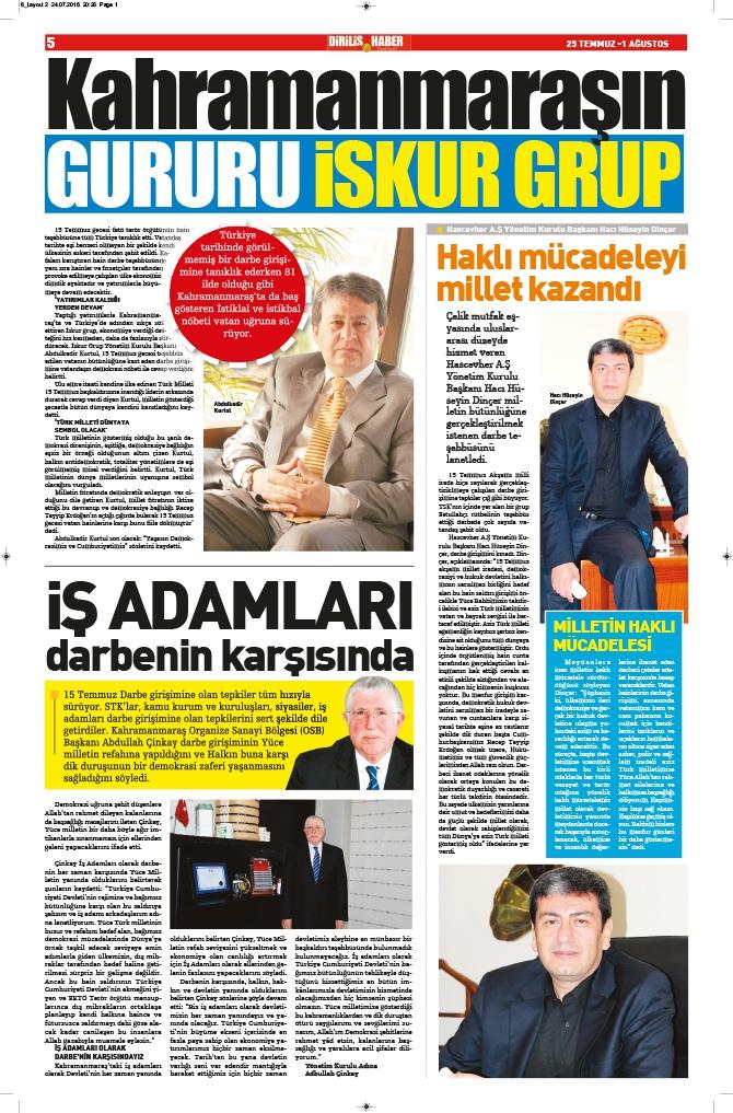 Diriliş Haber'in yeni sayısı çıktı! 6