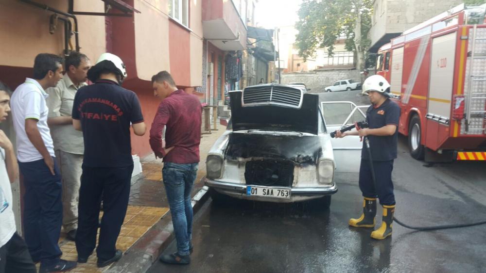 Suriye plakalı araçta yangın çıktı 5