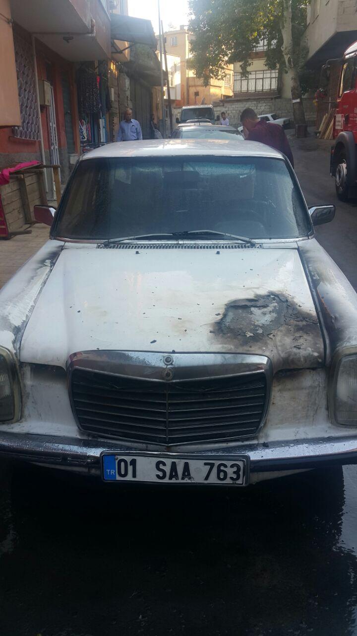Suriye plakalı araçta yangın çıktı 6