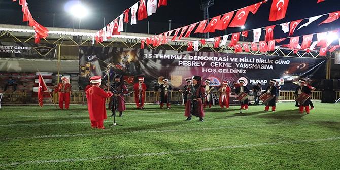 Kahramanmaraş'ta 15 Temmuz anısına pehlivanlar peşrev çekti 1
