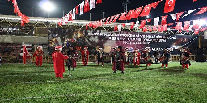 Kahramanmaraş'ta 15 Temmuz anısına pehlivanlar peşrev çekti