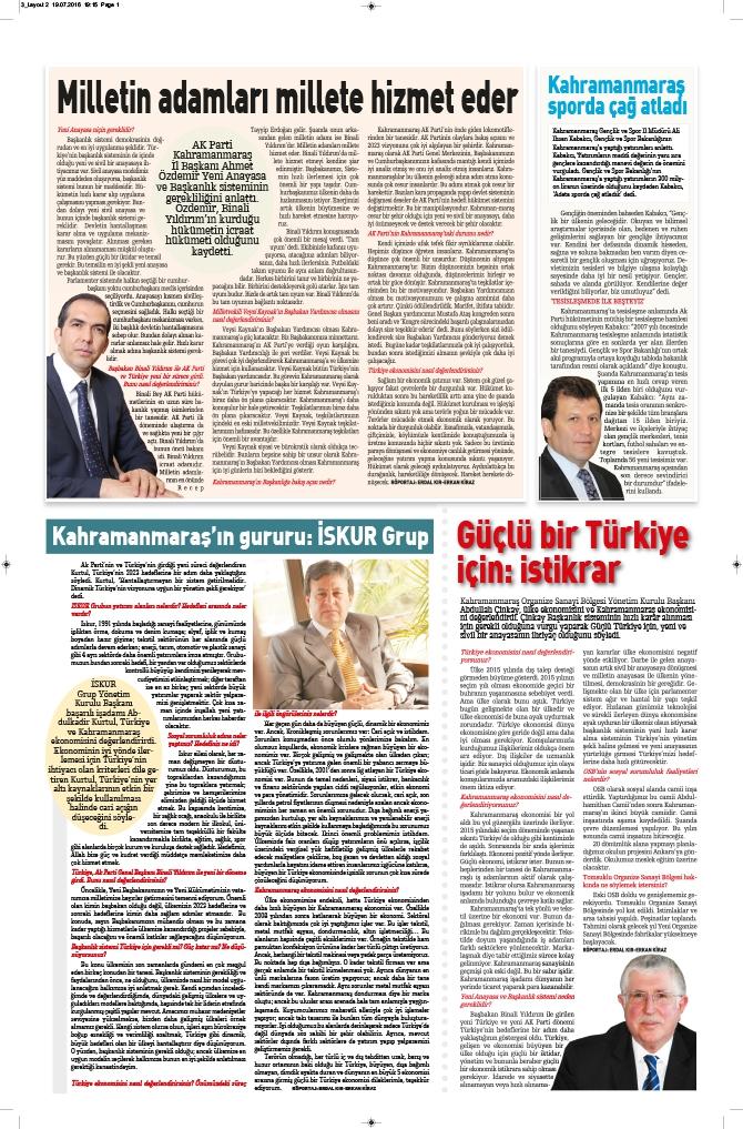 Milat Gazetesi Kahramanmaraş eki çıktı! 4