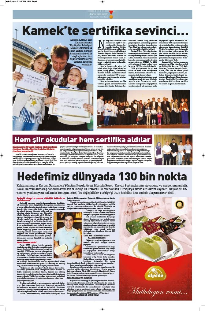 Milat Gazetesi Kahramanmaraş eki çıktı! 6