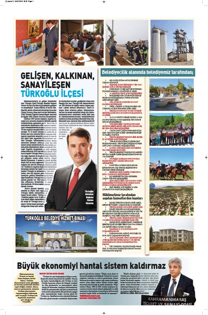 Milat Gazetesi Kahramanmaraş eki çıktı! 9