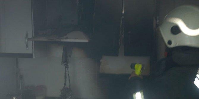 Kahramanmaraş'ta mutfak yangını korkuttu