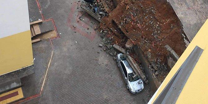Kahramanmaraş'ta istinat duvarı çöktü