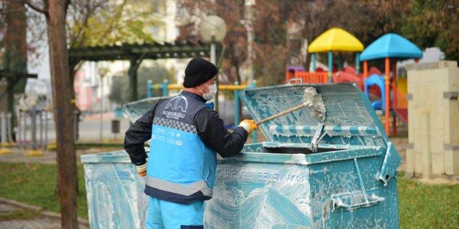 Dulkadiroğlu Belediyesi'nden kısıtlamada dezenfekte çalışması