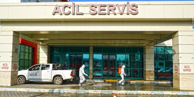 Kahramanmaraş'ta sağlık tesisleri dezenfekte edildi