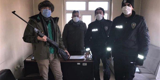 Kahramanmaraş'ta havalı tüfekle ördek avına ceza