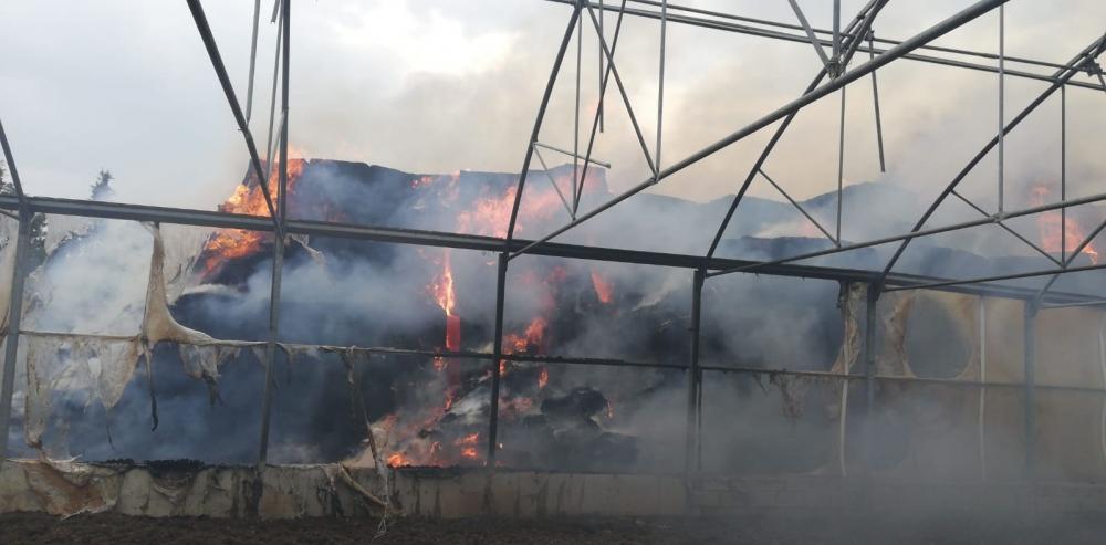 Kahramanmaraş'ta çiftlik yangını 1