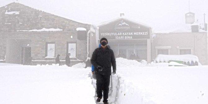 Yedikuyular Kayak Merkezi kar yağışında ilk sıralarda