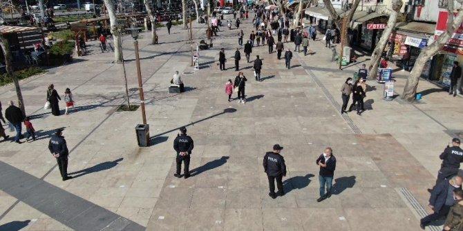 Kahramanmaraş'ta droneli Covid-19 denetimi