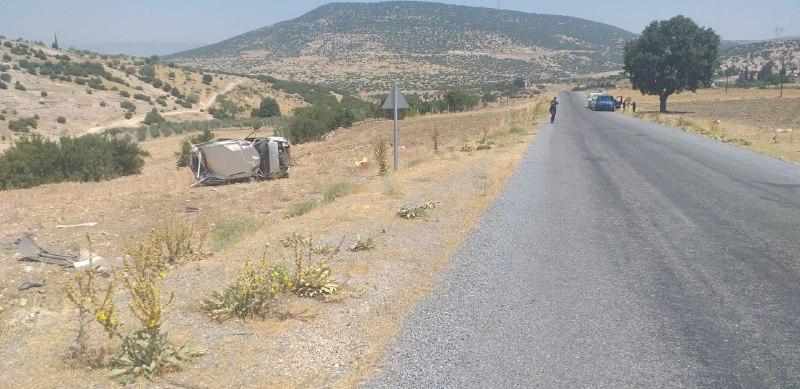 Kahramanmaraş'ta otomobil takla attı: 3 ağır 7 yaralı 1