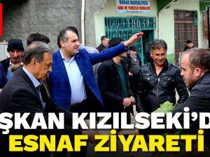Başkan Kızılseki Çağlayancerit'li vatandaşları ziyaret etti