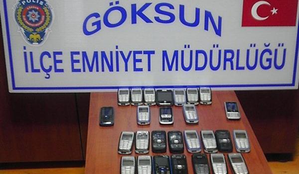 GÖKSUN'DA KAÇAK CEP TELEFONU OPERASYONU