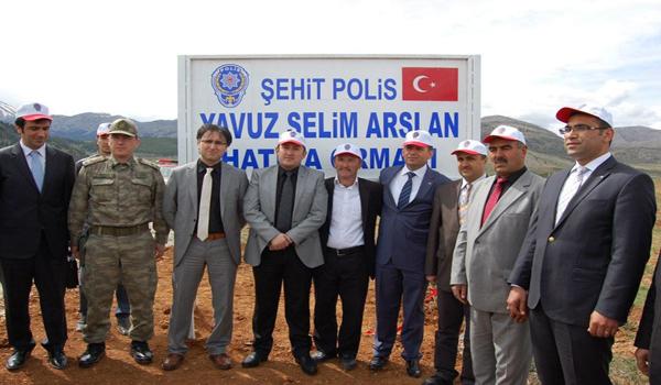ŞEHİT POLİSİN ADI HATIRA ORMANINDA YAŞAYACAK
