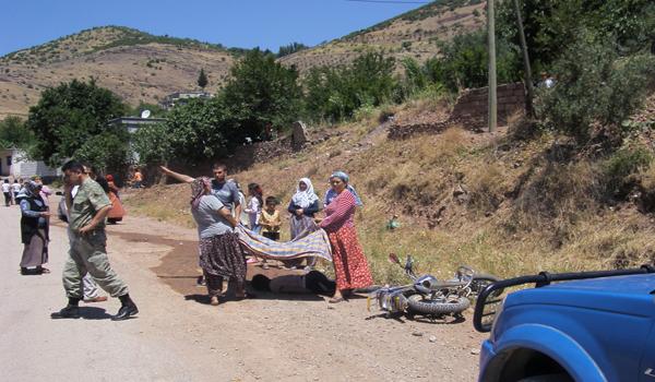 KAHRAMANMARAŞ'TA MOTOSİKLET KAZASI: 1 YARALI