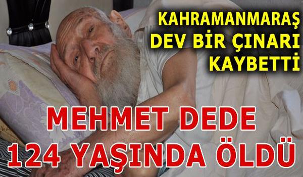Mehmet dede 124 yaşında vefat etti