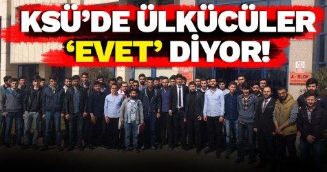 KSÜ'de ülkücüler 'evet' diyor!
