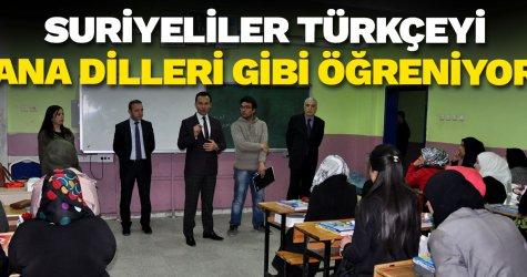 Suriyeliler Türkçeyi ana dilleri gibi öğreniyor