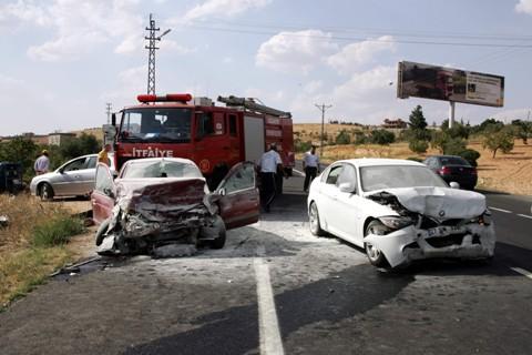 Gaziantep'te Trafik Kazası, 7 Yaralı!