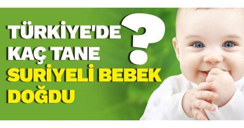 Türkiye'de kaç tane Suriyeli bebek doğdu