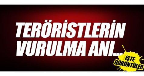 PKK'LI teröristlerin vurulma görüntüsü çıktı! İşte o anlar...