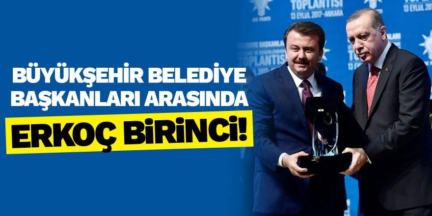 Büyükşehir belediye başkanları arasında Erkoç birinci!