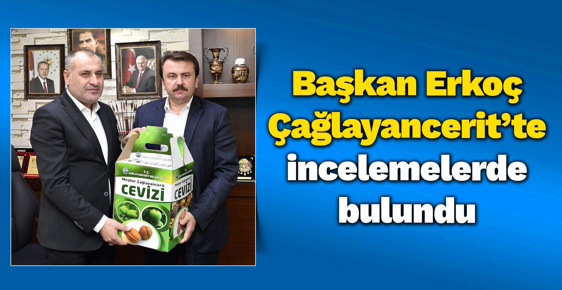 Başkan Erkoç Çağlayancerit'te incelemelerde bulundu