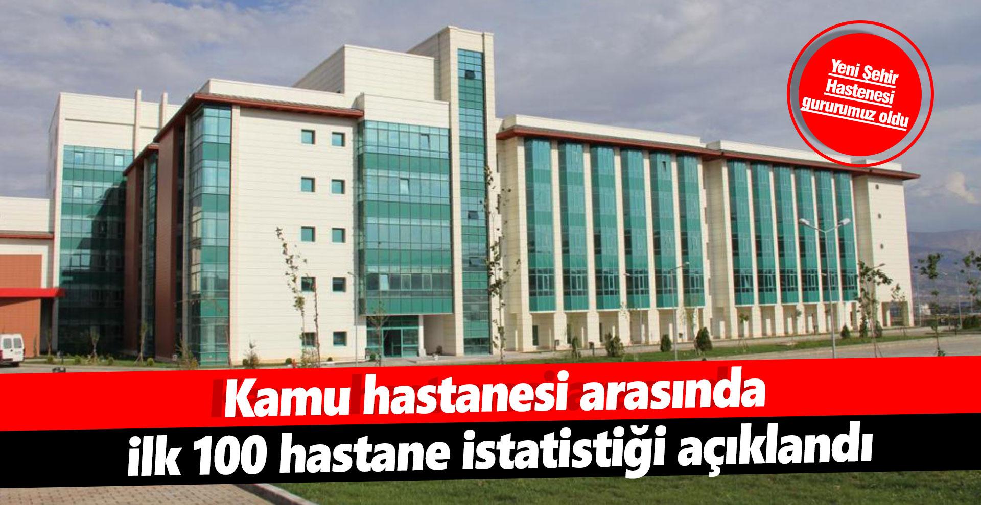 Kamu hastanesi arasında ilk 100 hastane istatistiği açıklandı