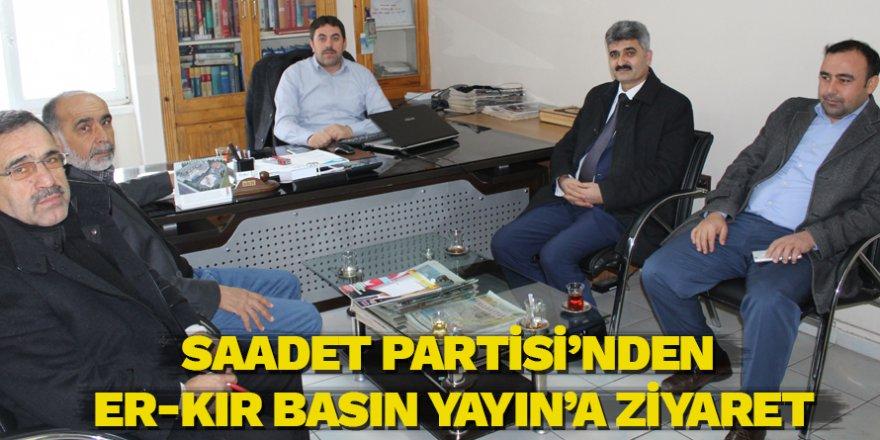 Saadet Partisinden Er-Kır Basın Yayına Ziyaret