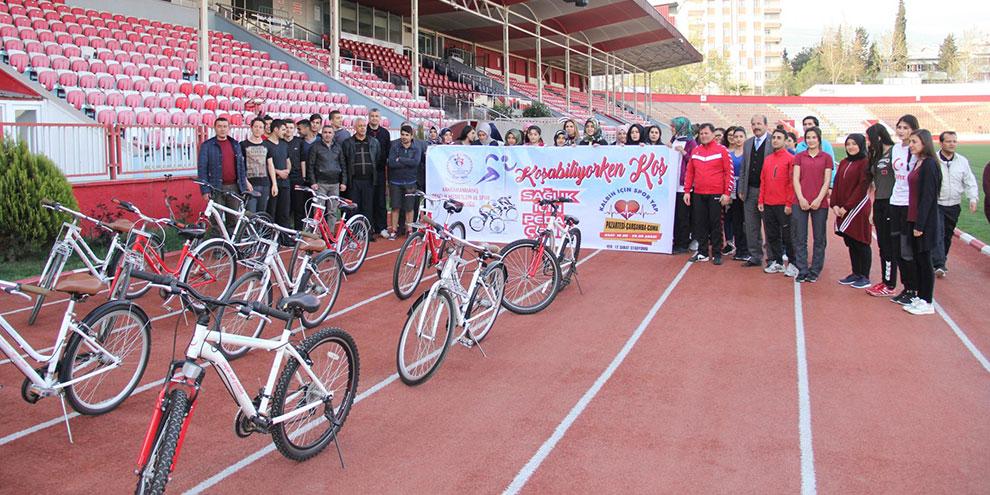 12 Şubat Stadyumunda bisikletli günler başladı