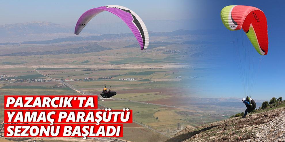 Pazarcık'ta yamaç paraşütü sezonu başladı