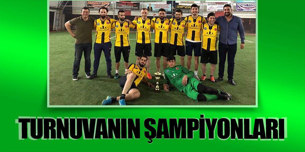 Pazarcık'taki turnuvada Küçükbağspor şampiyon oldu