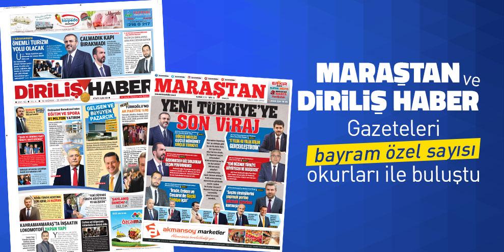 Maraştan Sayı 86 ve Diriliş Haber Gazetesi Sayı 162