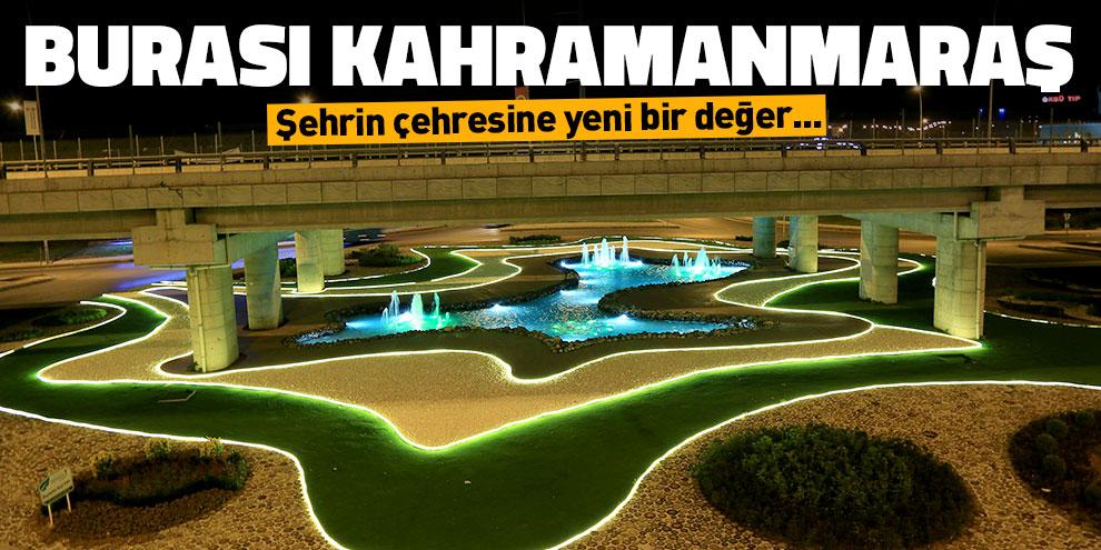 Kahramanmaraş'ta köprülü kavşaklar göz kamaştırıyor