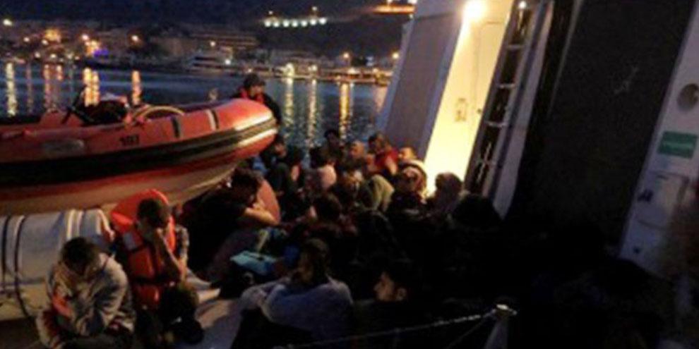 132 göçmen yakalandı