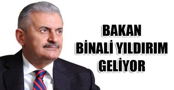 BAKAN YILDIRIM, KAHRAMANMARAŞ'A GELİYOR