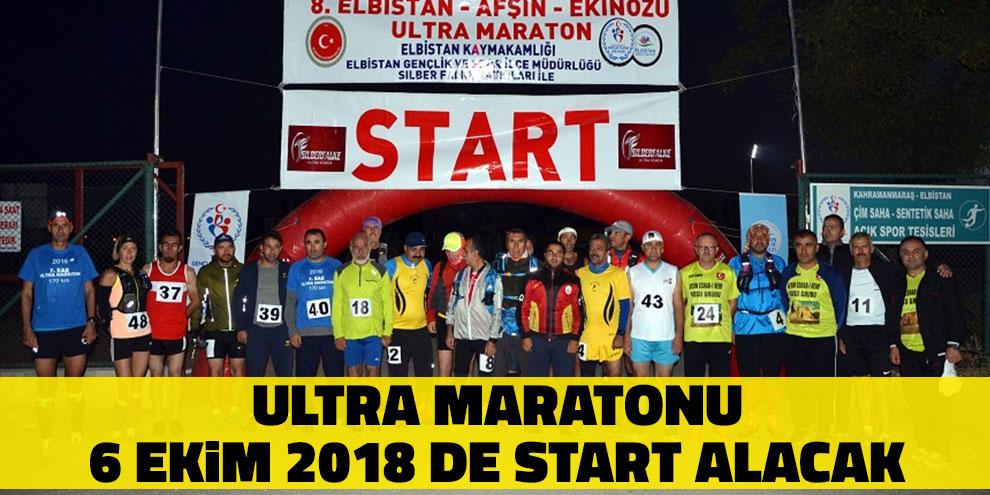 9. Elbistan Afşin Ekinözü Ultra Maratonu 6 Ekim 2018 De Start Alacak