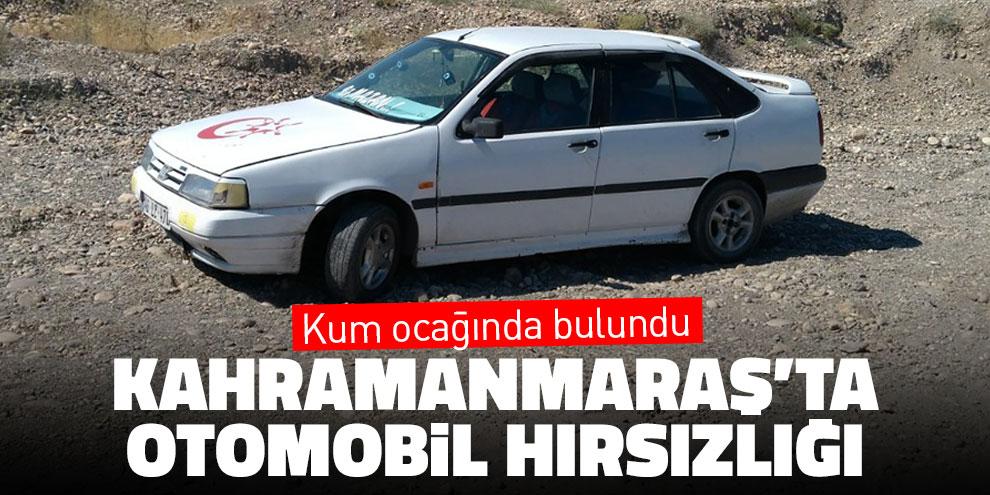 Kahramanmaraş'ta otomobil hırsızlığı