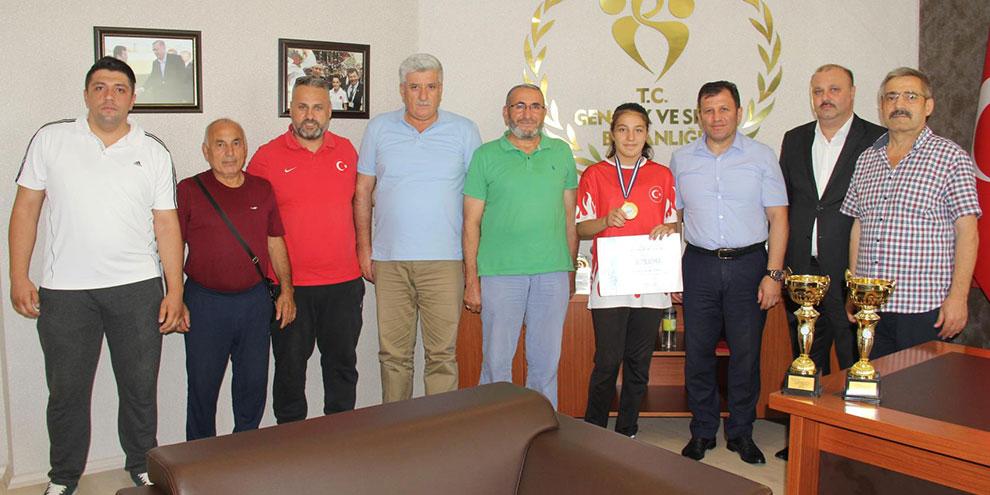 Balkan Judo Şampiyonu Kevser Dilbirliği'nden ziyaret