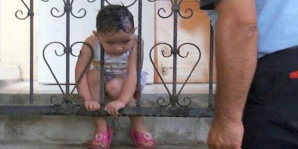 Muğla'da 3 yaşındaki Saregül Doğan başını balkon korkuluklarına sıkıştırdı