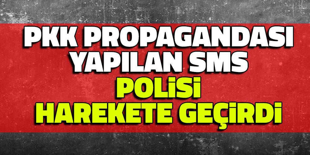 PKK Propagandası Yapılan Sms, Polisi Harekete Geçirdi