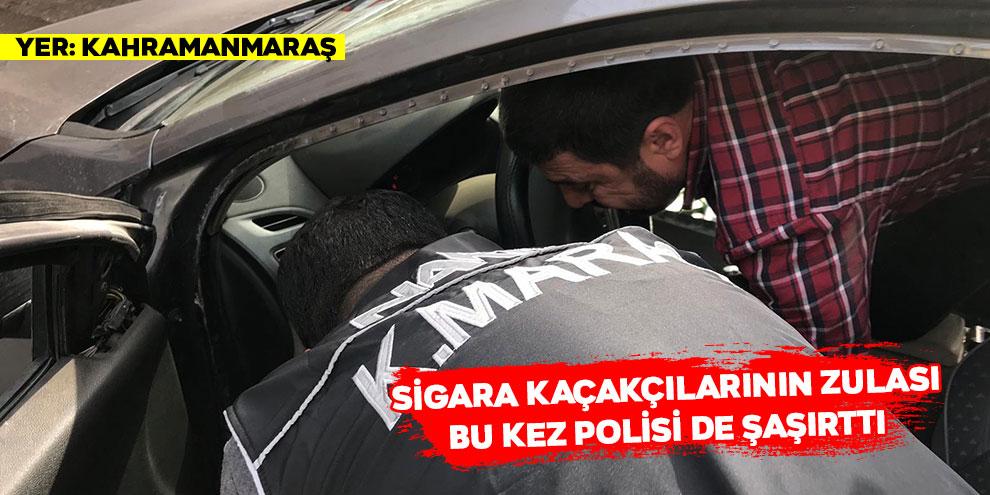 Sigara kaçakçılarının zulası bu kez polisi de şaşırttı