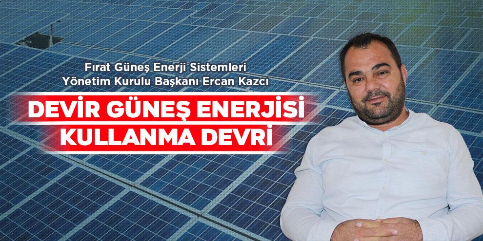 Devir güneş enerjisi kullanma devri