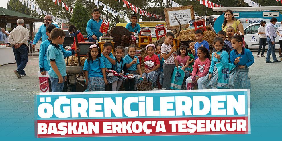 Öğrencilerden Başkan Erkoç'a teşekkür