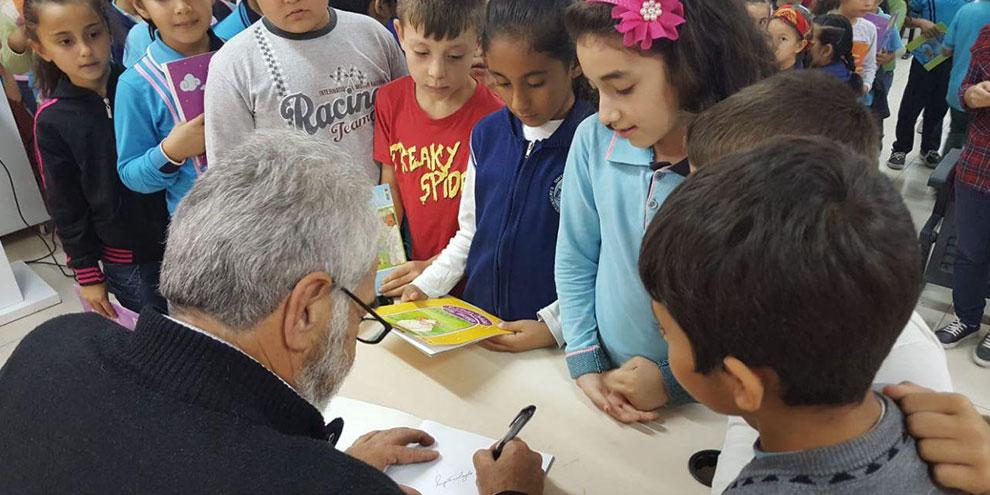 Yedi Güzel Adamın yol arkadaşı Yazar Nalbant, öğrencilerle buluştu