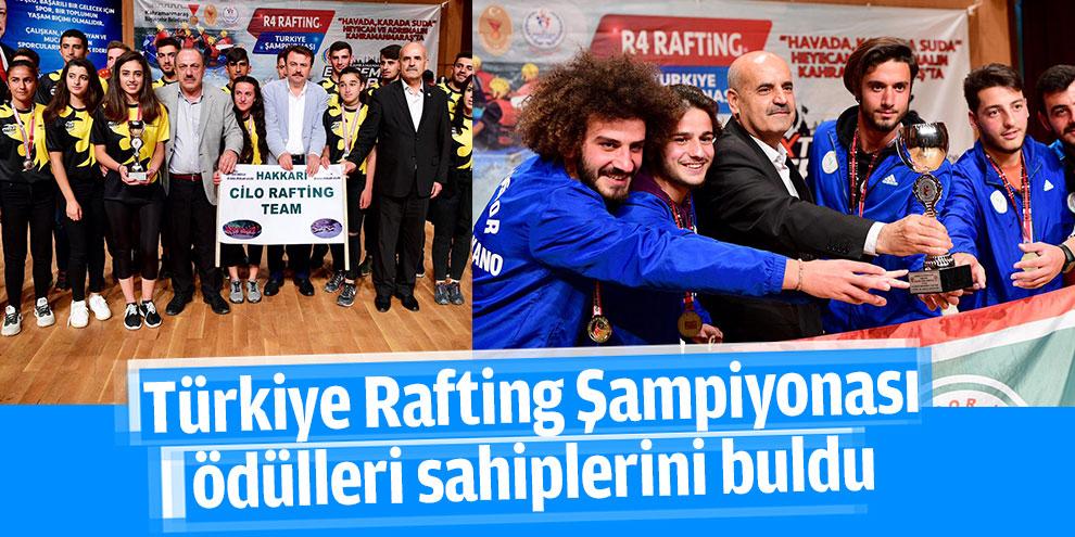 Türkiye Rafting Şampiyonası ödülleri sahiplerini buldu