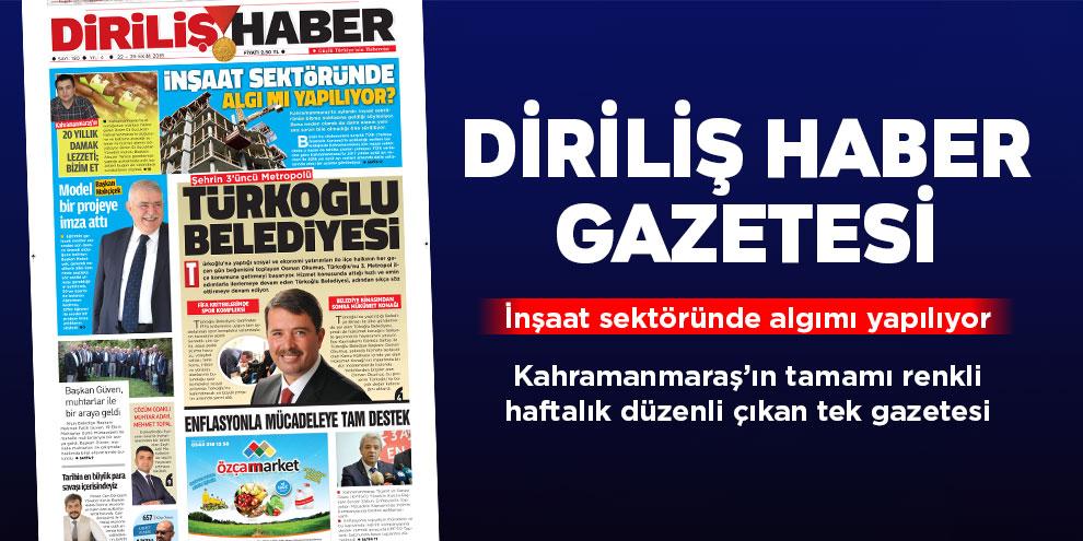 Diriliş Haber Gazetesi bu hafta ki sayısı! Sayı 180