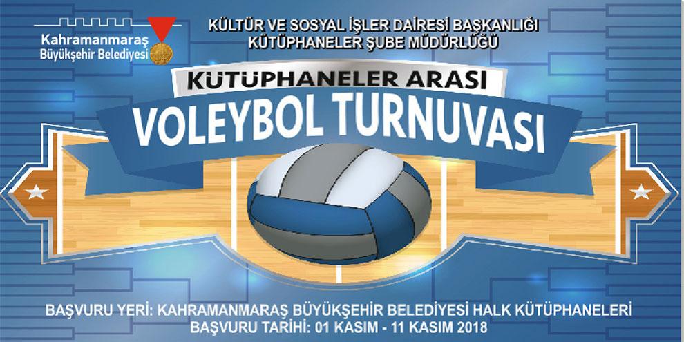 Kahramanmaraş'ta voleybol turnuvası